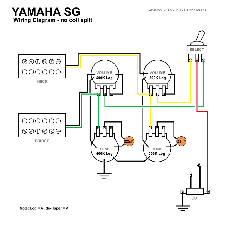 SOLVED: Need to see the wiring diagram for Yamaha guitar E ... on
